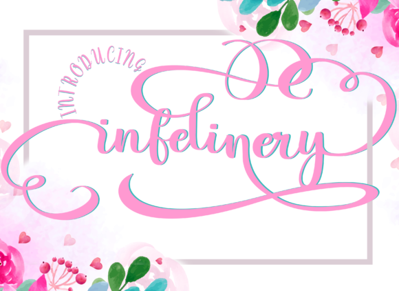 Print on Demand: Infelinery Script & Handwritten Font By Letterfand.Studio