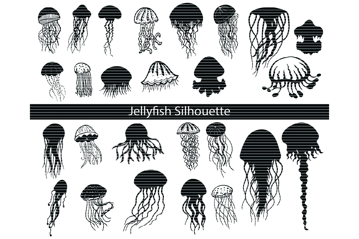 Download Free Jellyfish Clip Art Bundle Graphic By Meshaarts Creative Fabrica for Cricut Explore, Silhouette and other cutting machines.