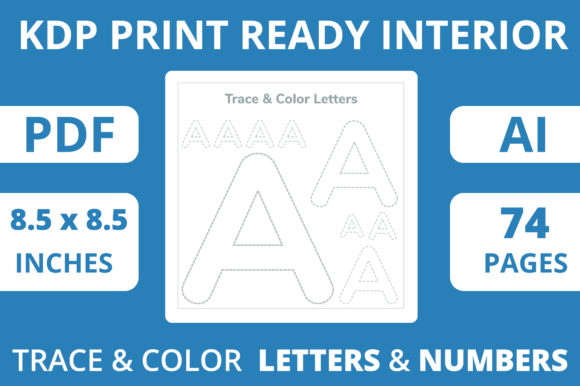 Print on Demand: KDP Upload Ready | Trace & Color Book Graphic Print Templates By MikeToon Studio