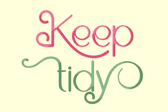 Print on Demand: Keep Tidy Lettering Awareness Embroidery Design By setiyadissi