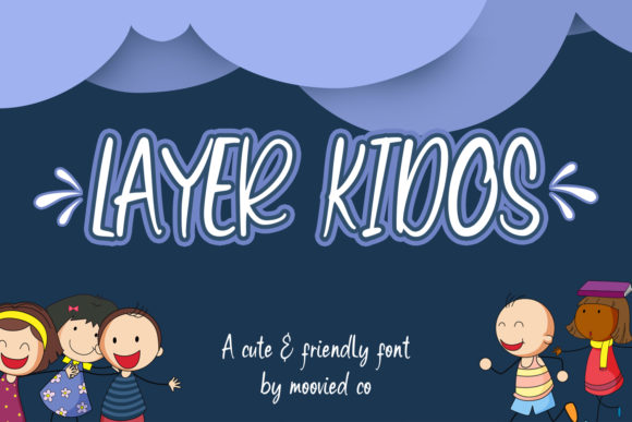 Print on Demand: Layer Kidos Display Font By Temp here