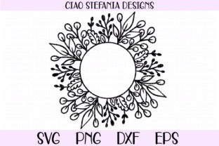 Leaves Circle Frame Graphic Crafts By ciaostefaniadigital