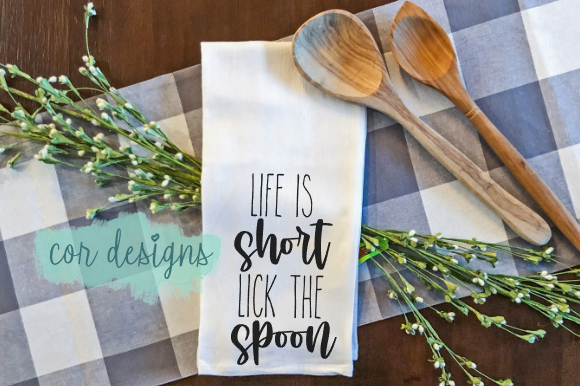 Print on Demand: Life is Short Lick the Spoon Graphic Crafts By designscor