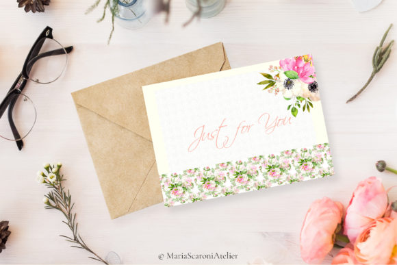 Lolita Watercolor Spring Flowers Graphic Preview