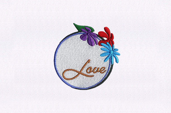 Love Caption Valentine's Day Embroidery Design By DigitEMB