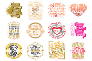 Print on Demand: Love Quotes Graphic Crafts By Tosca Digital 2