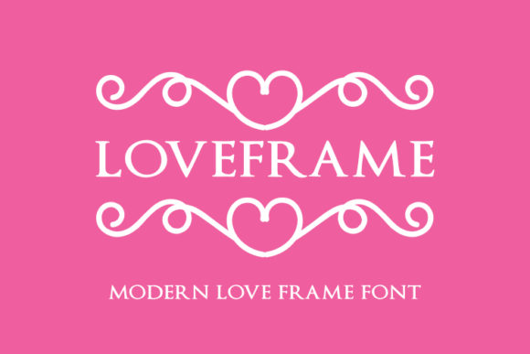 Print on Demand: Loveframe Dingbats Font By pustudio
