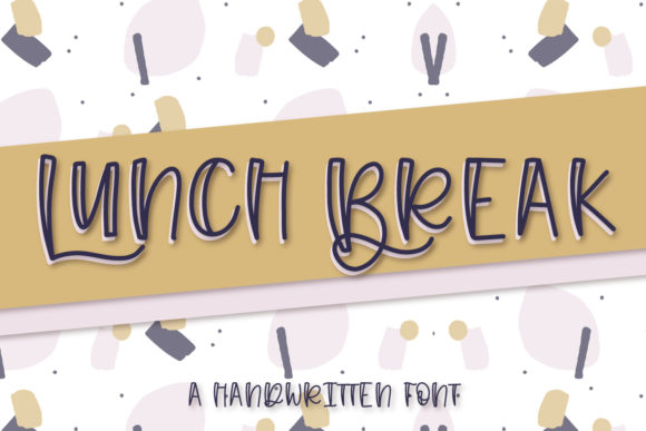 Print on Demand: Lunch Break Display Font By Justina Tracy - Image 1