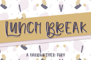 Print on Demand: Lunch Break Display Font By Justina Tracy