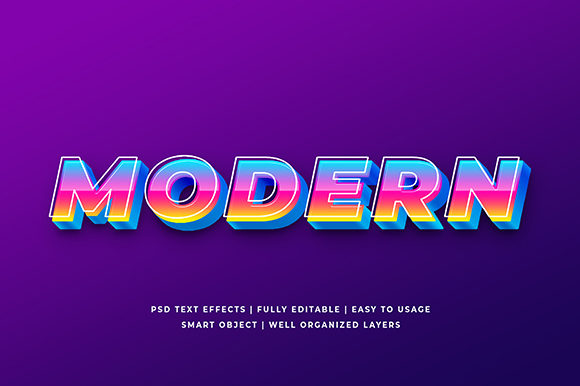 Modern 3d Text Effect Mockup Graphic Brushes By Syifa5610