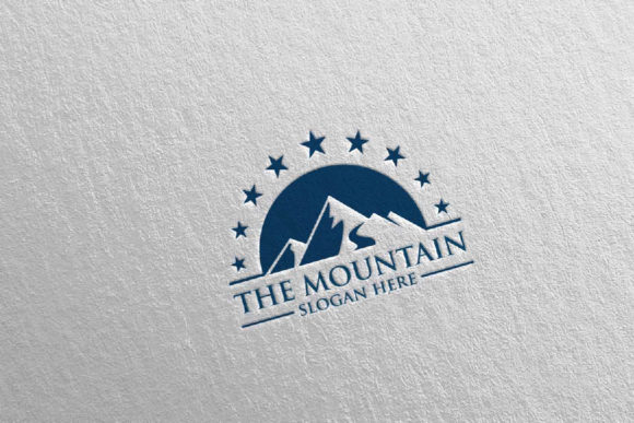 Download Free Mountain Logo Design 5 Graphic By Denayunecf Creative Fabrica for Cricut Explore, Silhouette and other cutting machines.