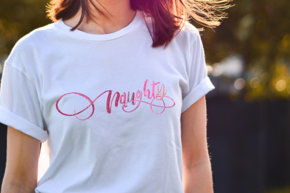 Naughty Lettering Clothing Embroidery Design By setiyadissi