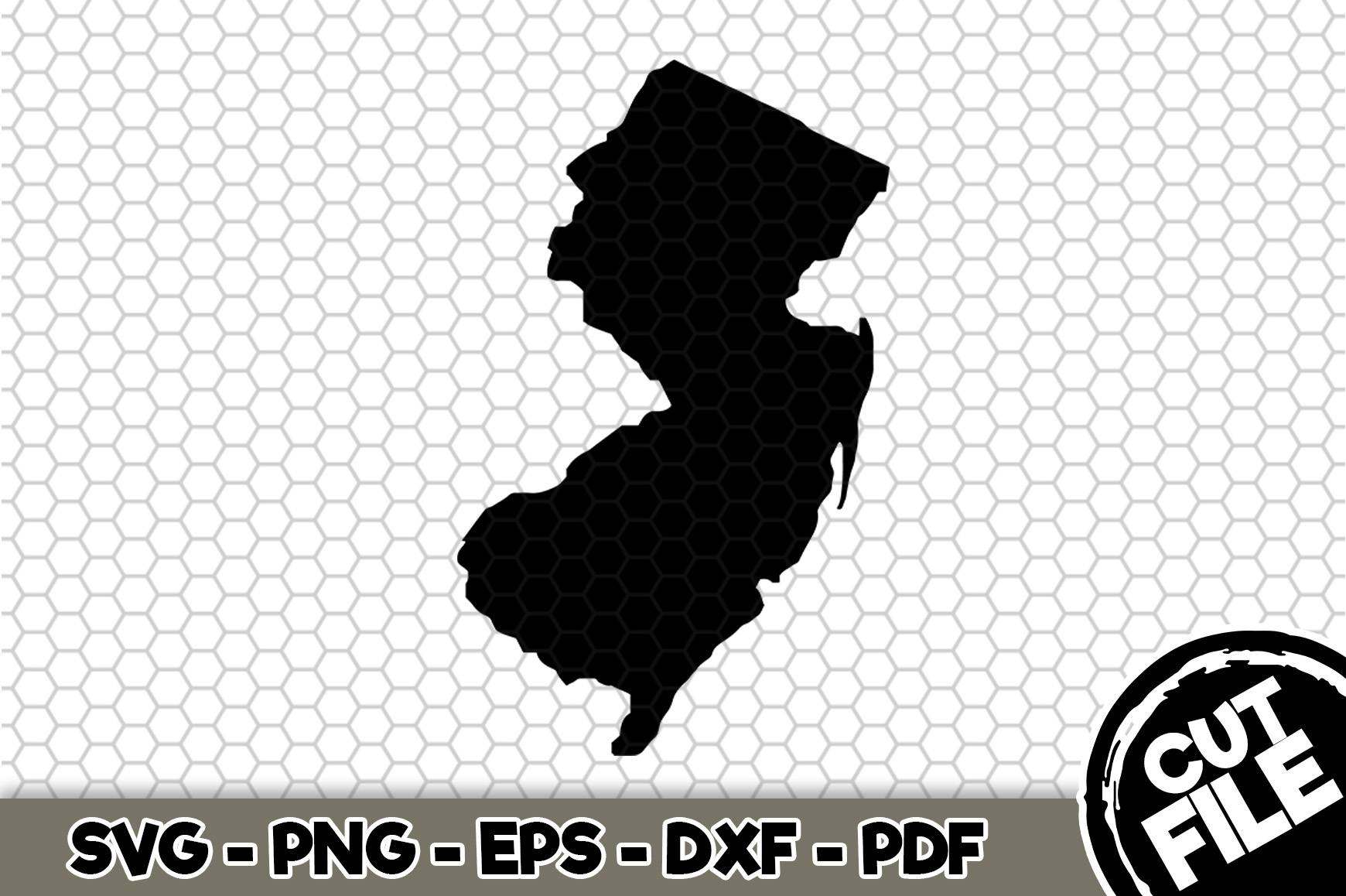 Download Free New Jersey State Graphic By Svgexpress Creative Fabrica for Cricut Explore, Silhouette and other cutting machines.