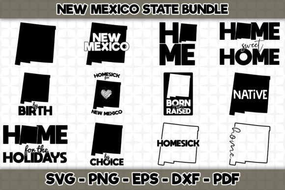 Print on Demand: New Mexico State Bundle - 12 Designs Graphic Crafts By SVGExpress