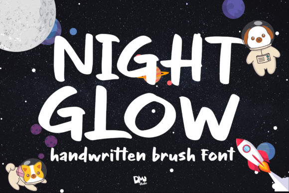 Print on Demand: Night Glow Script & Handwritten Font By dmletter31
