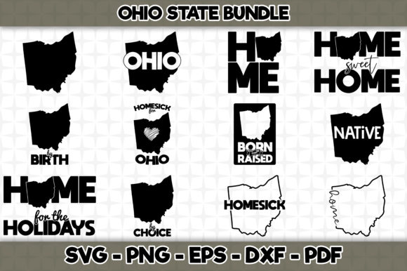 Print on Demand: Ohio State Bundle - 12 Designs Graphic Crafts By SVGExpress