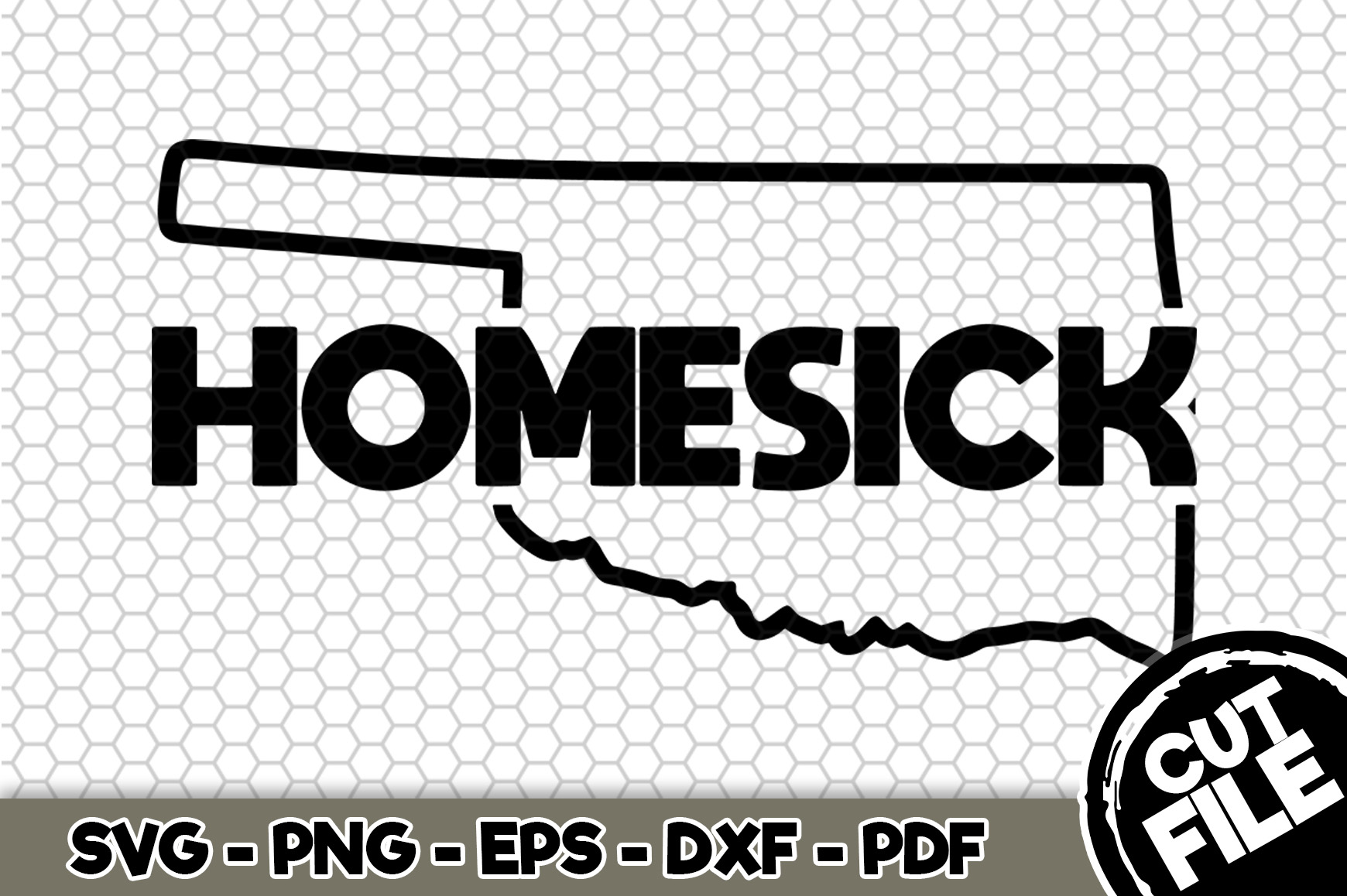 Download Free Oklahoma Homesick Graphic By Svgexpress Creative Fabrica for Cricut Explore, Silhouette and other cutting machines.