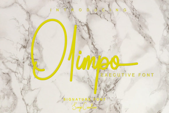 Print on Demand: Olimpo Script & Handwritten Font By SungiCreative