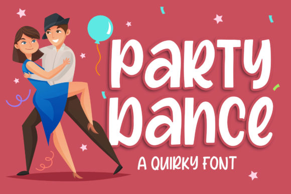 Print on Demand: Party Dance Display Schriftarten von Blankids Studio