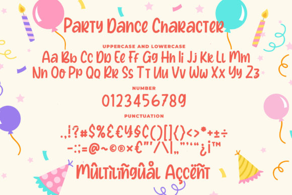 Print on Demand: Party Dance Display Font By Blankids Studio - Image 7