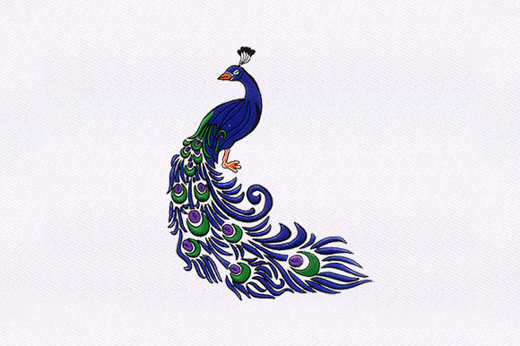 Peacock Vögel Stickdesign von DigitEMB