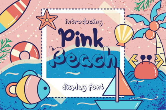 Print on Demand: Pink Beach Display Font By Caoca Studios