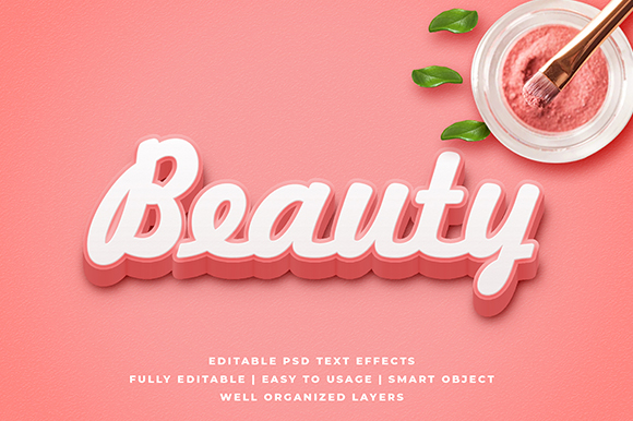 Download Free Pink Beauty 3d Text Effect Mockup Graphic By Syifa5610 for Cricut Explore, Silhouette and other cutting machines.