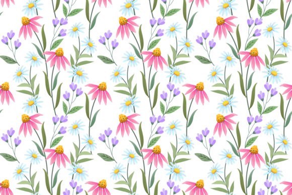 Download Free Butterfly And Flowers Seamless Pattern Graphic By Ranger262 for Cricut Explore, Silhouette and other cutting machines.