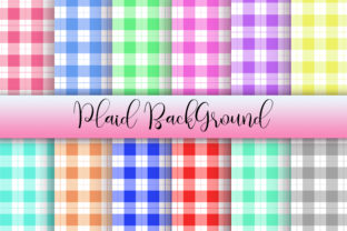 Plaid Background Digital Papers Graphic Backgrounds By PinkPearly