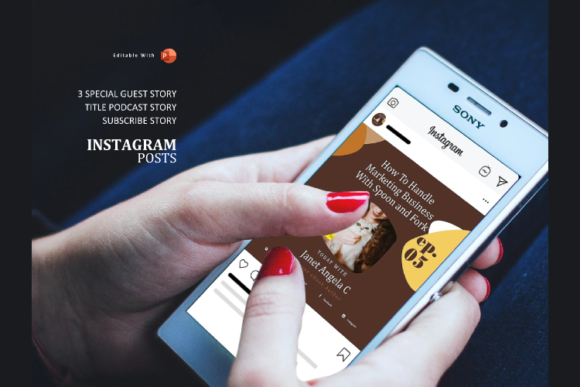 Download Free Podcast Instagram Stories Post Template Graphic By Rivatxfz SVG Cut Files