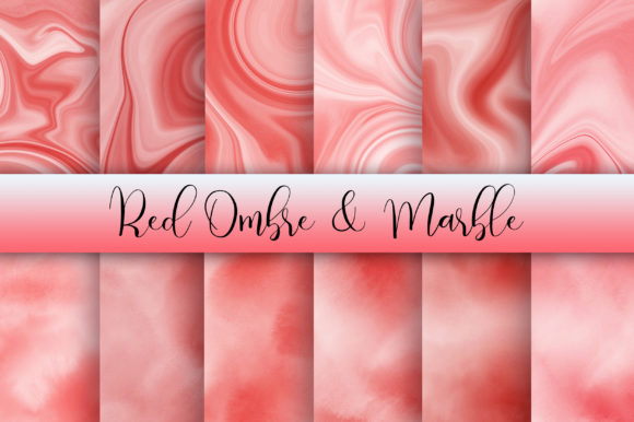 Download Free Red Ombre And Marble Background Graphic By Pinkpearly Creative for Cricut Explore, Silhouette and other cutting machines.