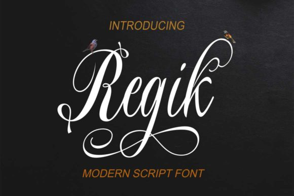 Print on Demand: Regik Script & Handwritten Font By Bot Kerling