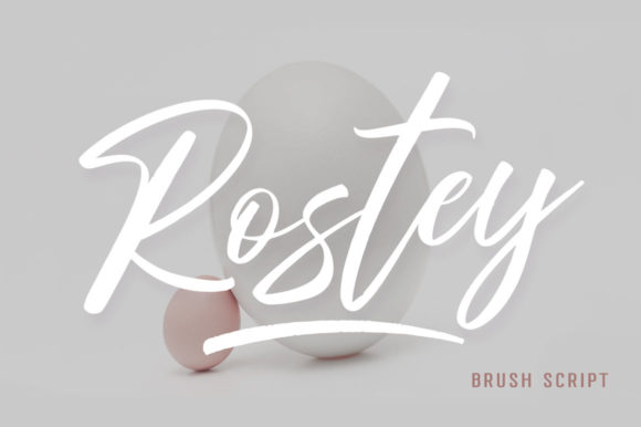 Print on Demand: Rostey Script & Handwritten Font By Dhan Studio