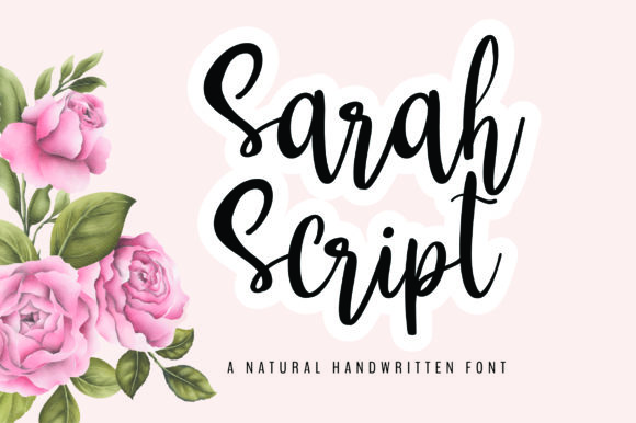Print on Demand: Sarah Script & Handwritten Font By bitongphoto