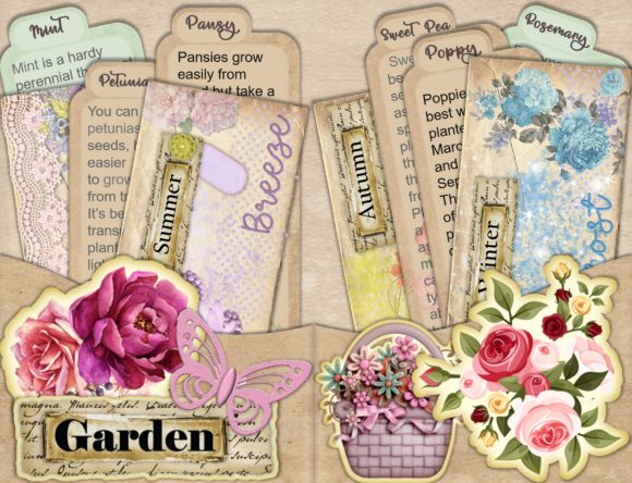 Print on Demand: Shabby Chic Stuffed Pockets Kit Graphic Crafts By The Paper Princess