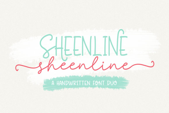 Print on Demand: Sheenline Duo Script & Handwritten Font By Wandani Creative