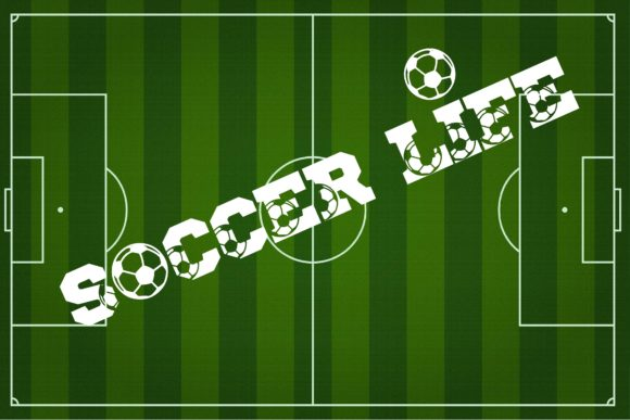 Print on Demand: Soccer Life Display Fuente Por Mr.pagman