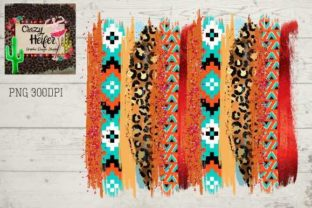 Print on Demand: Southwestern Background Aztec Ethnic Dye Graphic Backgrounds By Crazy Heifer Design Shoppe
