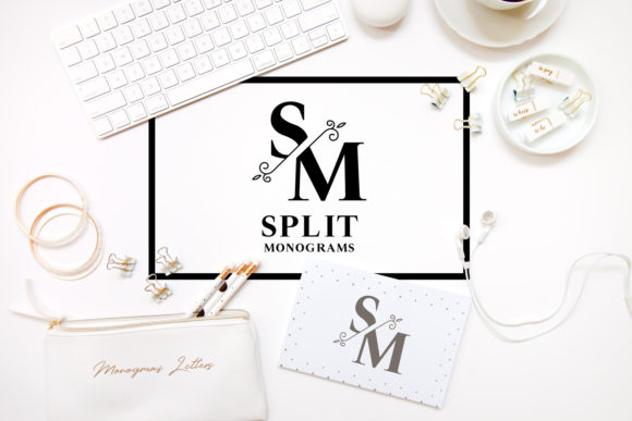 Print on Demand: Split Monograms Decorative Font By Sintegra