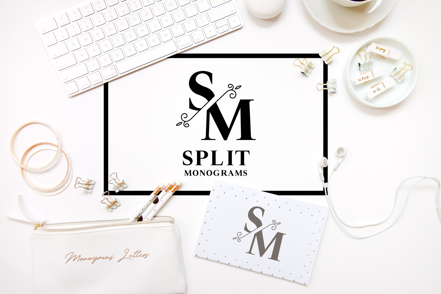 Download Free Split Monograms Font By Sintegra Creative Fabrica for Cricut Explore, Silhouette and other cutting machines.