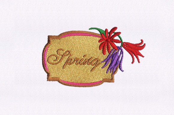 Spring Vines Single Flowers & Plants Embroidery Design By DigitEMB