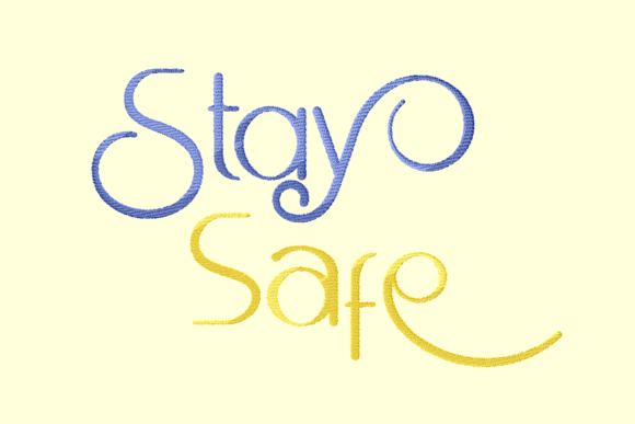 Print on Demand: Stay Safe Awareness Embroidery Design By setiyadissi