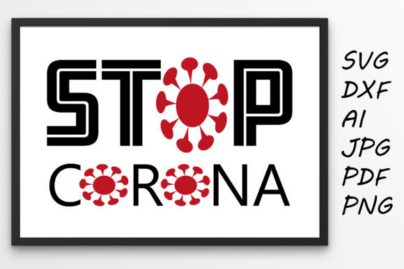 Print on Demand: Stop Corona Virus Graphic Crafts By Tanja Dianova - Image 1