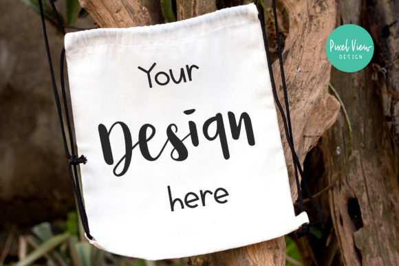 Print on Demand: String Bag Mockup Graphic Product Mockups By Pixel View Design