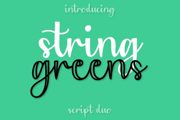 Print on Demand: String Greens Display Font By Justina Tracy