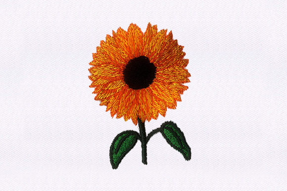 Sunflower Single Flowers & Plants Embroidery Design By DigitEMB