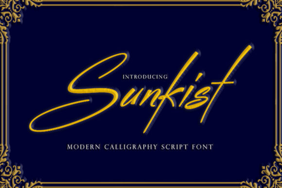 Print on Demand: Sunkist Script & Handwritten Font By sapre.studio