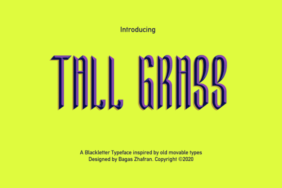 Print on Demand: Tall Grass Blackletter Font By Rinjanibagaz