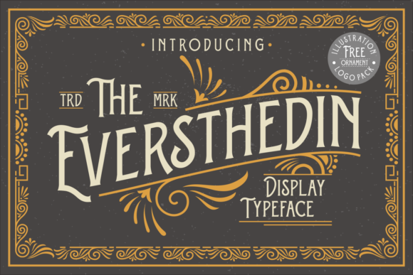 Print on Demand: The Eversthedin Display Font By sitintahitam