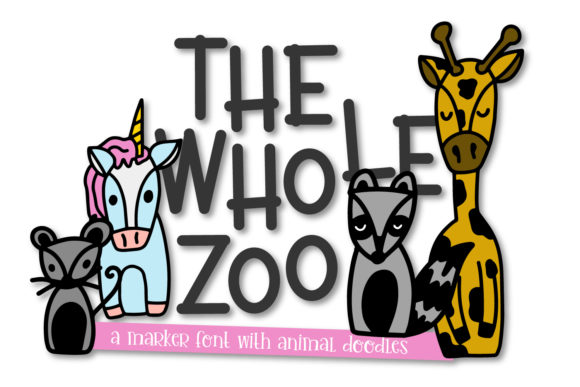 Print on Demand: The Whole Zoo Dingbats Font By Justina Tracy - Image 1